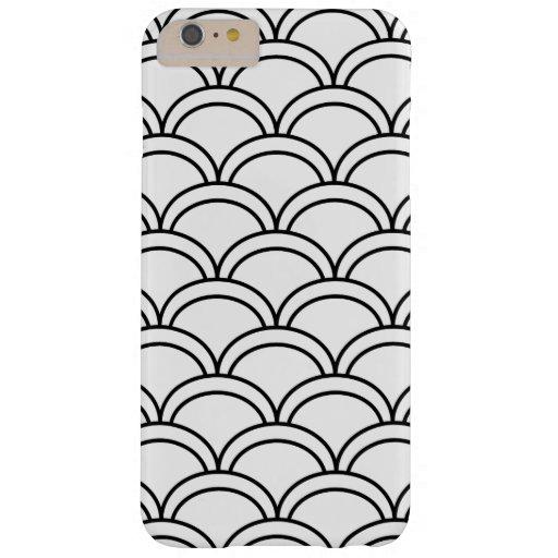 Motif de vagues noir et blanc nautique coque iPhone 6 plus barely there
