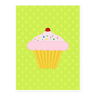 Motif de vert de chaux de petit gâteau cartes postales