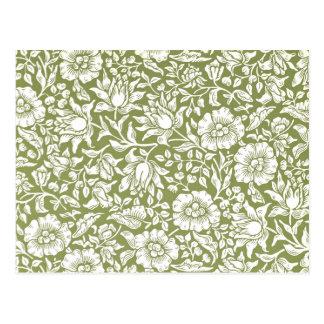 Motif de vert de mauve de William Morris Cartes Postales