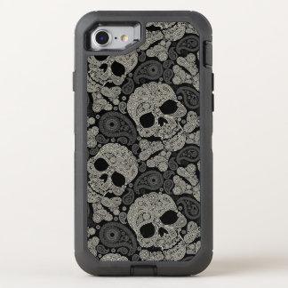 Motif d'os croisés de crâne de sucre coque otterbox defender pour iPhone 7
