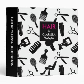 Motif d'outils de coiffeur classeurs