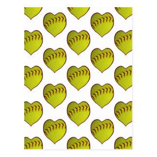 Motif du base-ball d'amour cartes postales