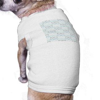 Motif en verre de lecture d'amusement sur le bleu t-shirt pour chien