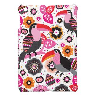 Motif exotique d'illustration d'oiseau de Tucan Étui iPad Mini