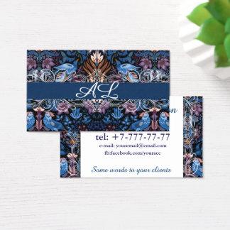 Motif floral d'aquarelle vintage toute profession cartes de visite