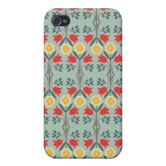 Motif floral de hippie de fairisle juste d'île rét iPhone 4 case