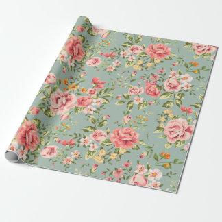 Motif floral de jardin vintage victorien papiers cadeaux noël