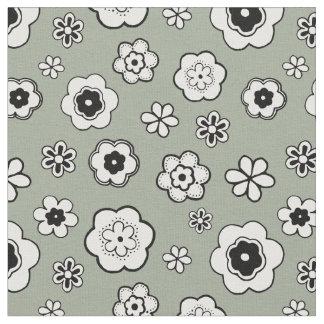 Motif floral de vert sauge tissu