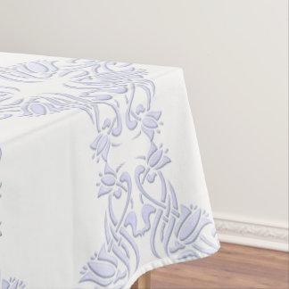 motif floral de violette de damassé nappe