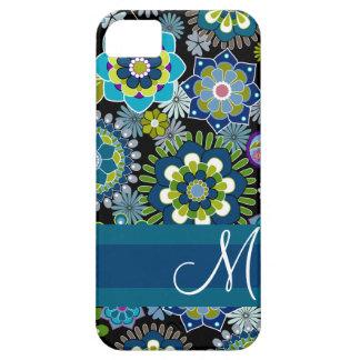 Motif floral Girly avec le monogramme Coques Case-Mate iPhone 5