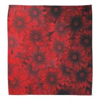 Motif floral rouge foncé foulards