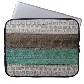 Motif géométrique aztèque à la mode frais impressi housse ordinateur