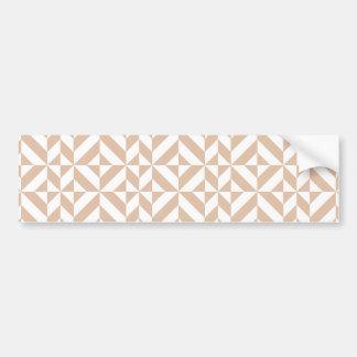 Motif géométrique beige chaud de cube en Deco Autocollant De Voiture