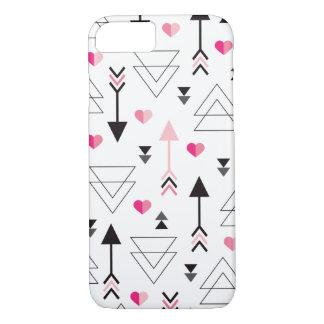 Motif géométrique de cupidon de flèche de coque iPhone 7