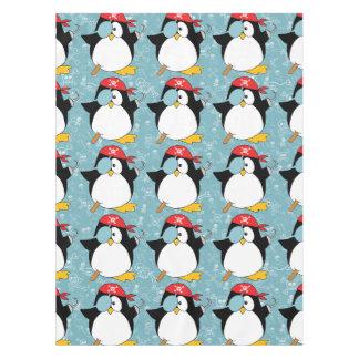 Motif graphique de pingouin de pirate nappe