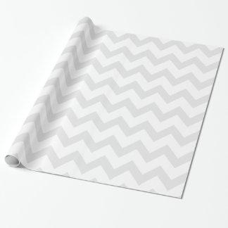 Motif gris-clair et blanc de Chevron Papier Cadeau
