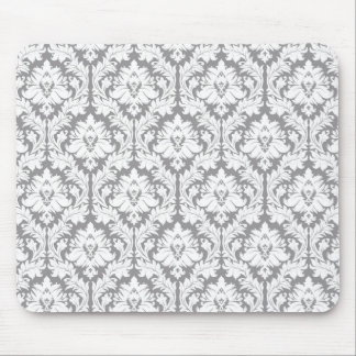 Motif gris de damassé de caillou tapis de souris