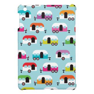 Motif hippie de caravane de profondément satisfait étui iPad mini