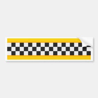 Motif jaune de damier autocollant de voiture
