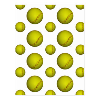 Motif jaune du base-ball/base-ball cartes postales