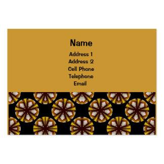 Motif jaune et brun de cercle carte de visite