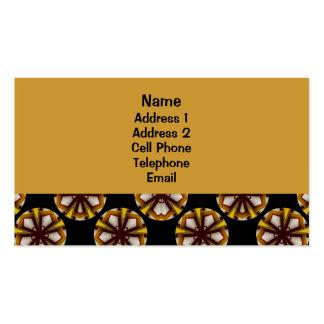 Motif jaune et brun de cercle modèle de carte de visite
