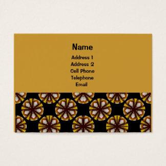 Motif jaune et brun de cercle cartes de visite
