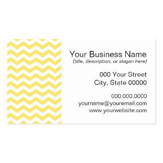Motif jaune pâle et blanc de Chevron Cartes De Visite Personnelles
