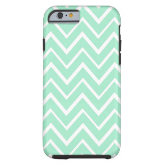 Motif lunatique vert en bon état de chevron de coque iPhone 6 tough