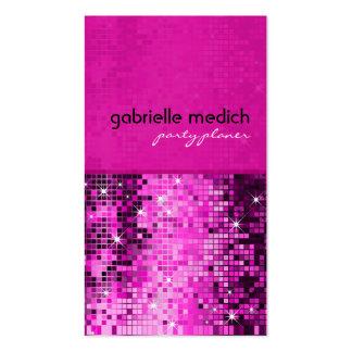 Motif métallique d'ordre de scintillement rose élé modèles de cartes de visite