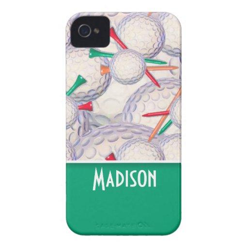 Motif mignon de boules et de tee - shirt de golf étui iPhone 4