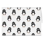 Motif mignon de pingouin cartes de vœux