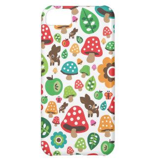 Motif mignon d'enfants avec le champignon de cerfs coques pour iPhone 5C