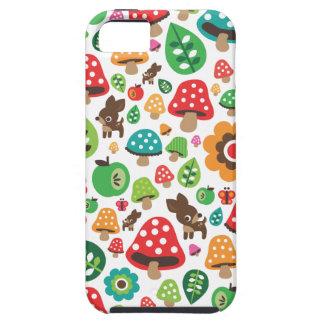 Motif mignon d'enfants avec le champignon de cerfs coque tough iPhone 5