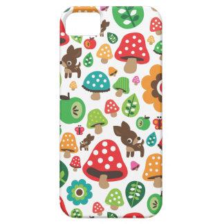 Motif mignon d'enfants avec le champignon de cerfs coques Case-Mate iPhone 5
