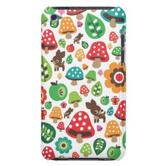 Motif mignon d'enfants avec le champignon de cerfs coques iPod touch