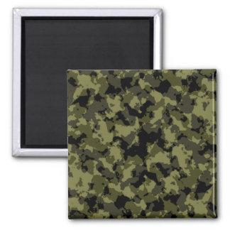 Motif militaire de style de camouflage magnet carré