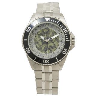 Motif militaire de style de camouflage montres bracelet