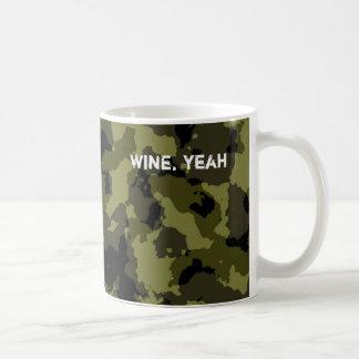 Motif militaire de style de camouflage mug blanc