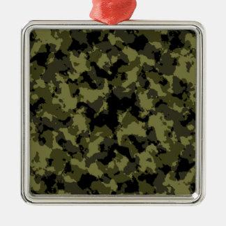 Motif militaire de style de camouflage ornement carré argenté