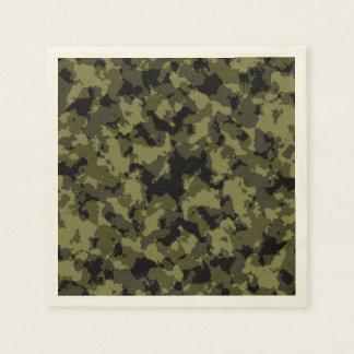 Motif militaire de style de camouflage serviette jetable