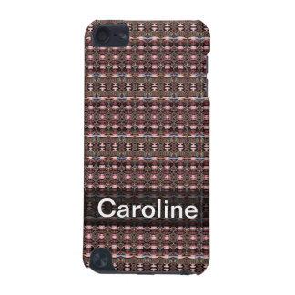Motif noir brun personnalisé d'art déco coque iPod touch 5G