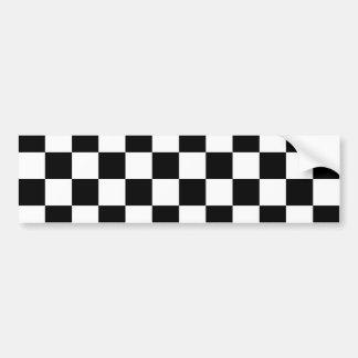 Motif noir de damier autocollant de voiture