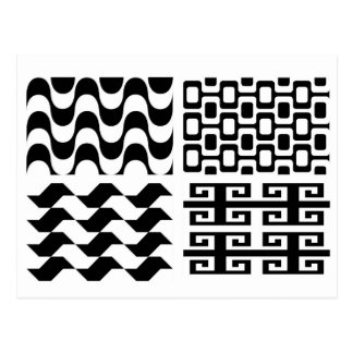 Motif noir et blanc cartes postales