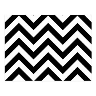 Motif noir et blanc de Chevron de zigzag Carte Postale