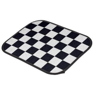 Motif noir et blanc de contrôleur tapis de voiture