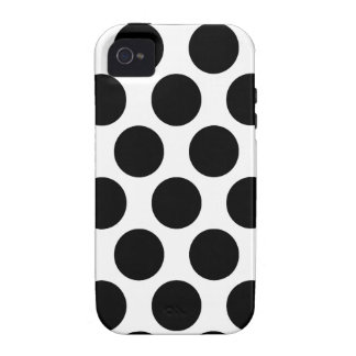 Motif noir et blanc de Polkadot Coque iPhone 4