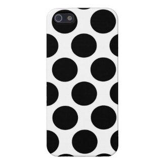 Motif noir et blanc de Polkadot iPhone 5 Case