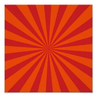 Motif orange de rayons de Sun d'éclat de Sun Posters