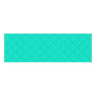Motif piqué par bleu d'Aqua de Tiffany Carte De Visite
